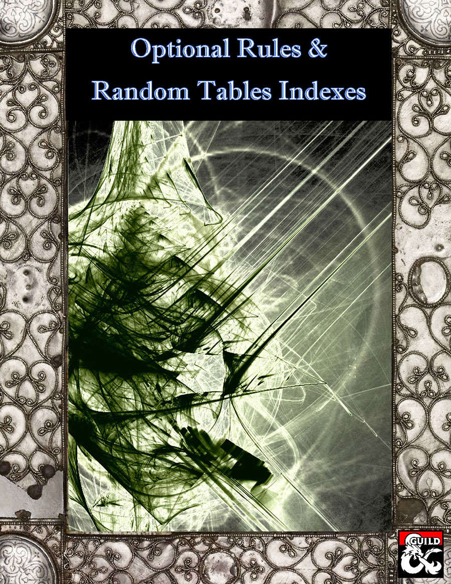 Optional Rules & Random Tables Indexes