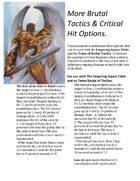 More Brutal Tactics & Critical Hit Options