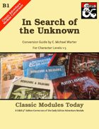 Classic Modules Today: B1 In Search of the Unknown