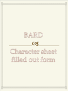 Bard Character sheet  filled out form