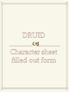Druid Character sheet  filled out form