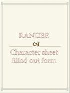 Ranger Character sheet  filled out form