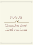 Rogue Character sheet  filled out form