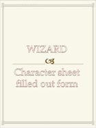 Wizard Character sheet  filled out form