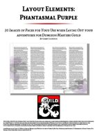 Layout Elements: Phantasmal Purple