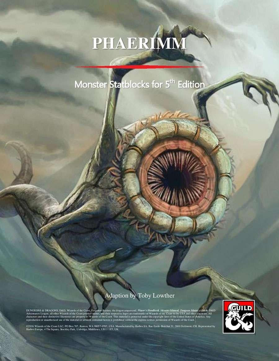 [5th Edition] Monster Statblocks: Phaerimm