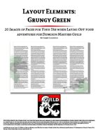 Layout Elements: Grungy Green