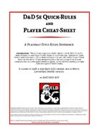 D&D 5e Quick-Rules and Player Cheat-Sheet