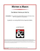 Metric & Magic: The Metric System and 5e