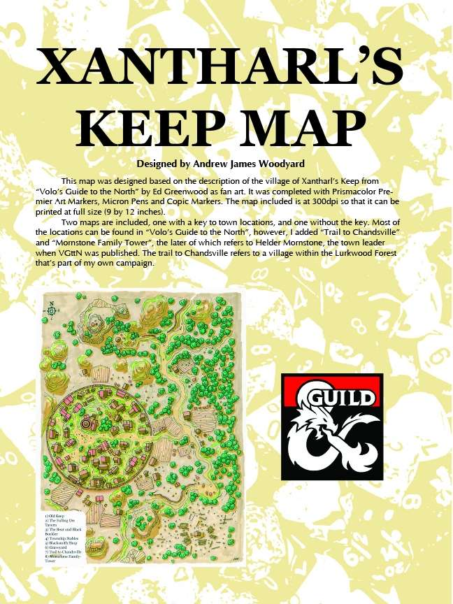 picture relating to Storm King's Thunder Printable Maps identified as Xantharls Preserve Maps - Dungeon Masters Guild
