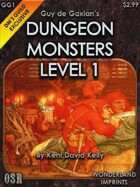 Guy de Gaxian's Dungeon Monsters - Level 1