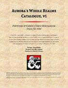 Aurora's Whole Realms Catalogue, vol 1
