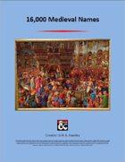 16,000 Medieval Names