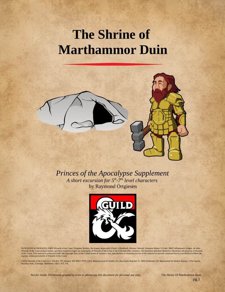 Cover of The Shrine of Marthammor Duin
