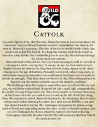 Catfolk Player Race 5th Edition