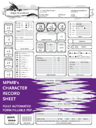Character Sheet - MPMB's fully-automated Printer Friendly character generator
