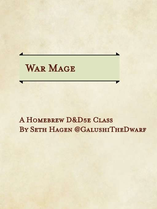 War Mage - Homebrew 5E Class - Dungeon Masters Guild
