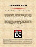 Underdark Races
