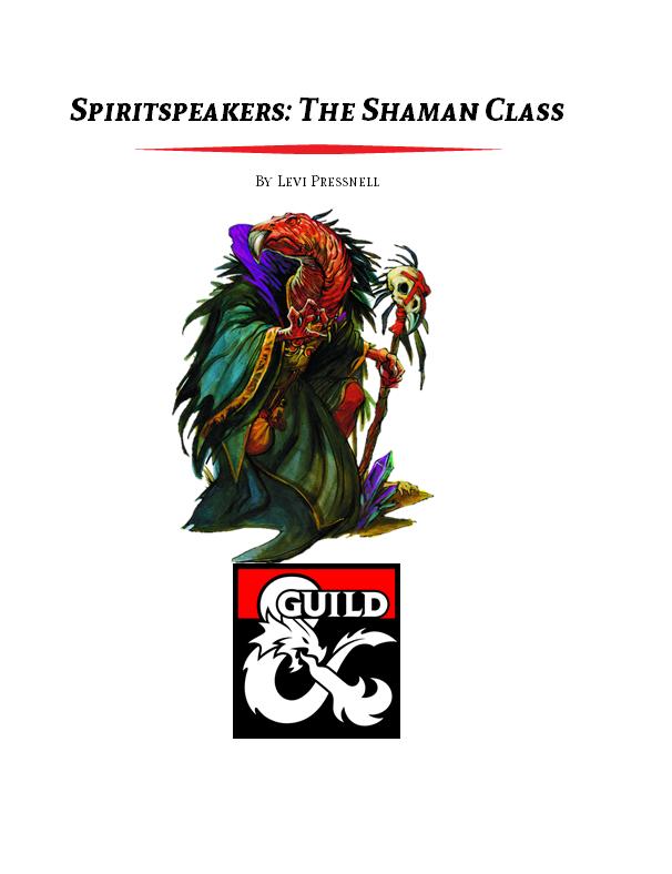 Spiritspeakers: The Shaman Class (5e) - Dungeon Masters Guild |  DriveThruRPG com