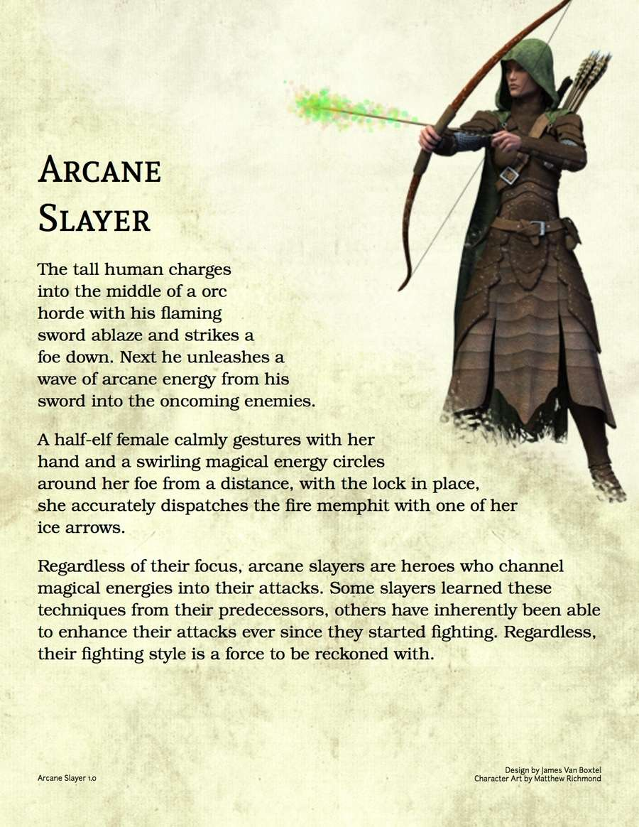 Arcane Slayer Class - Dungeon Masters Guild | Dungeon Masters Guild