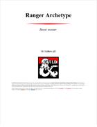 Ranger archetype: Beast master