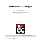 Barbarian archetype: Path of the primal warrior