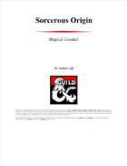 Sorcerer origin. Magical conduit