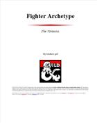 Fighter archetype. The Virtuoso