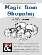 Magic Item Shopping - A DMs Resource
