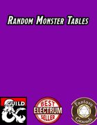 Random Monster Tables