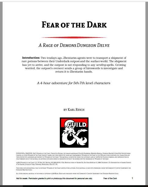 Cover of Fear of the Dark