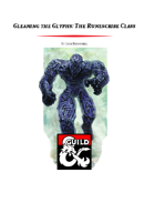 Gleaning the Glyphs: The Runescribe Class (5e)