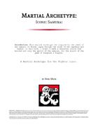 Martial Archetype: Iconic Samurai