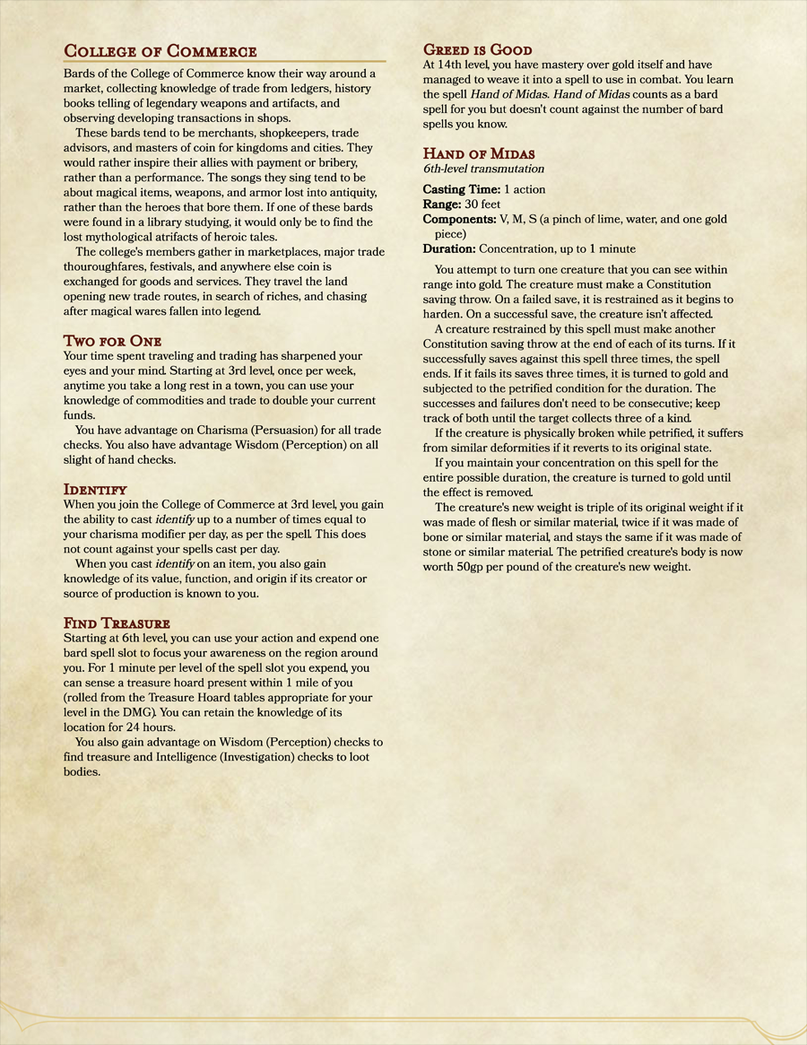 College of Commerce - Dungeon Masters Guild | Dungeon Masters Guild