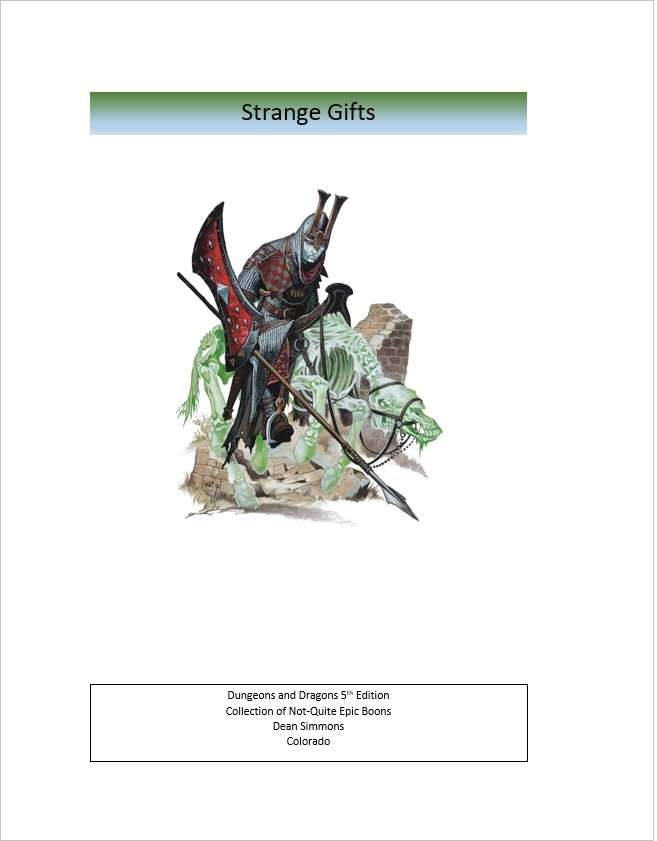 Strange Gifts - Dungeon Masters Guild | Dungeon Masters Guild