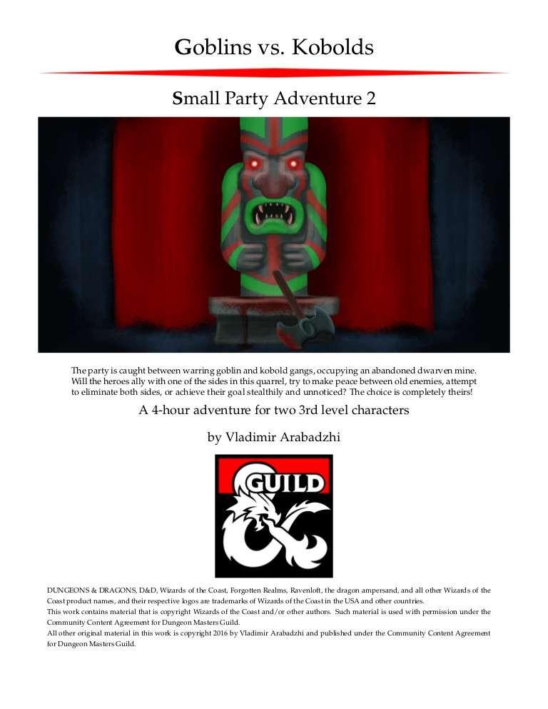 Cover of SPA2: Goblins vs. Kobolds