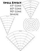 Spell Area of effect cones