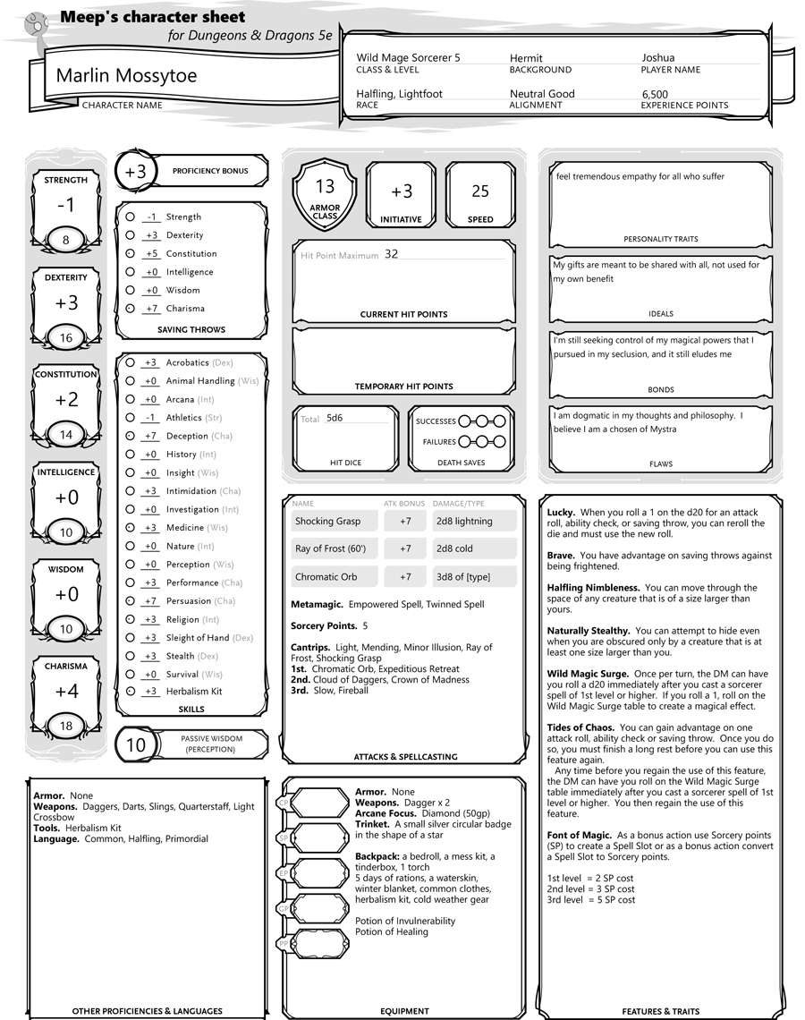 It is an image of Sweet Dnd 5e Printable Character Sheet