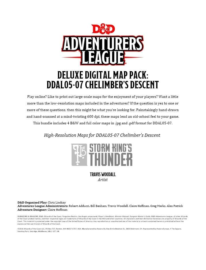 picture regarding Storm King's Thunder Printable Maps identify Magnificent Electronic Map Pack: DDAL05-07 Chelimbers Descent - Dungeon Masters Guild Wargame Vault