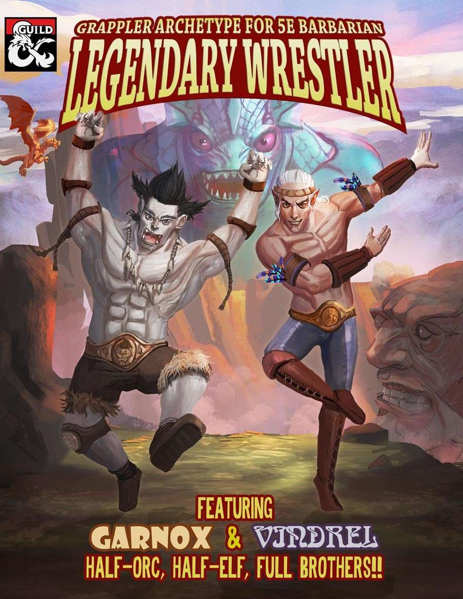 Legendary Wrestler - Grappler Archetype for 5E Barbarian - Dungeon