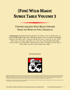 (Fun) Wild Magic Surge Table Vol. 3