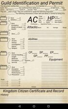 Guild Centric Character Sheet 5E