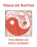 Tome of Battle: Book of Nine Swords