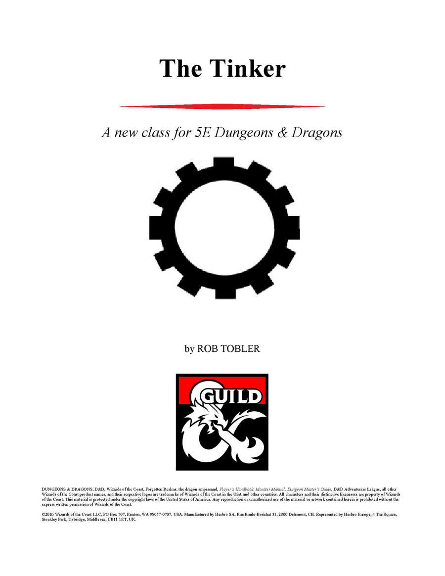 The Tinker A New Cl For 5e