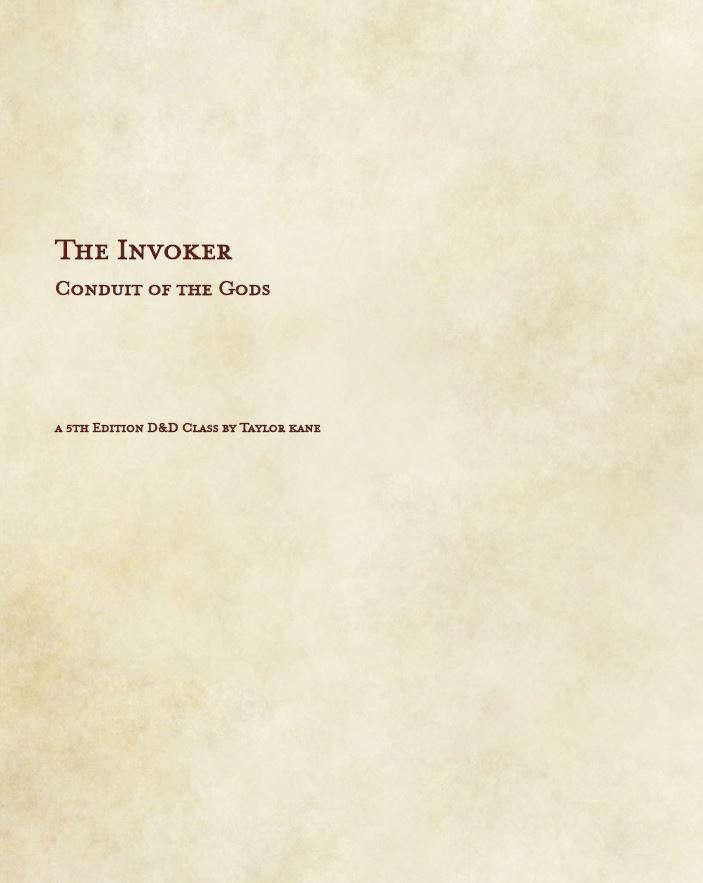 Invoker Guide 4e