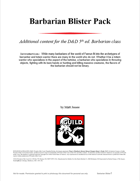 Barbarian Archetype Blister Pack