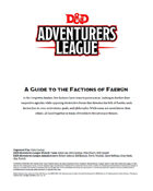 A Guide to the Factions of Faerun