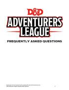 D&D Adventurers League FAQ