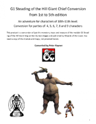 G1 Steading of the Hill Giant Chief Conversion from 1st to 5th edition