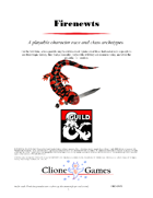 Firenewts - A 5e Player Race and Class Archetypes